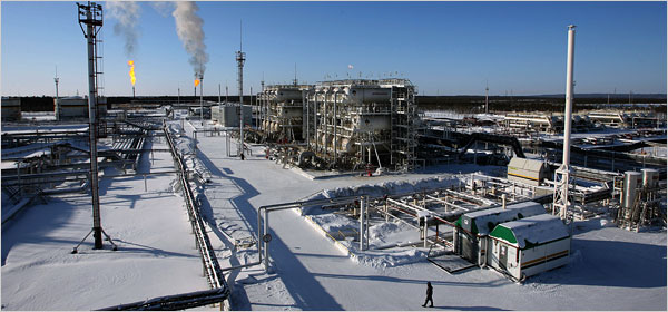 Refinery in Snow